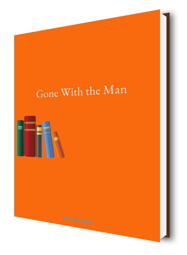 A bright orange eBook cover with the inscription Gone with the man