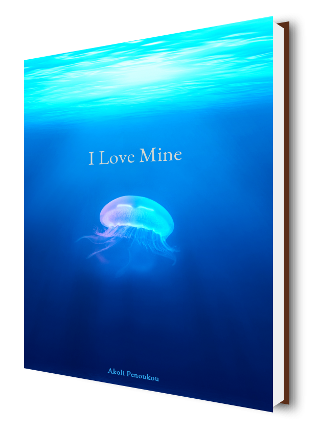 A bright blue and bright green ebook cover with the title I love mine